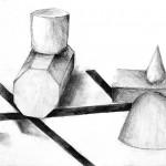 鉛筆デッサン/幾何形体